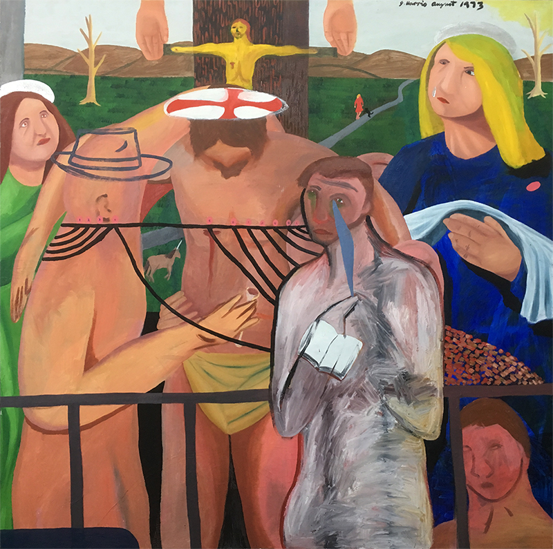 Jeffrey Harris  Religious and Allegorical Painting , 1973 Oil on canvas 1220 x 1220 mm  ______