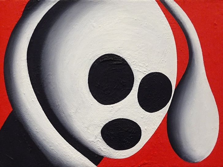 Jeffrey Harris  From Dream #216 , 2002/03 Framed oil on linen 300 x 405 mm  _______