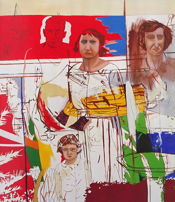 Jeffrey Harris  Family , 1981 Oil on canvas 1500 x 1350 mm [Collection of the Dunedin Public Art Gallery]  _______