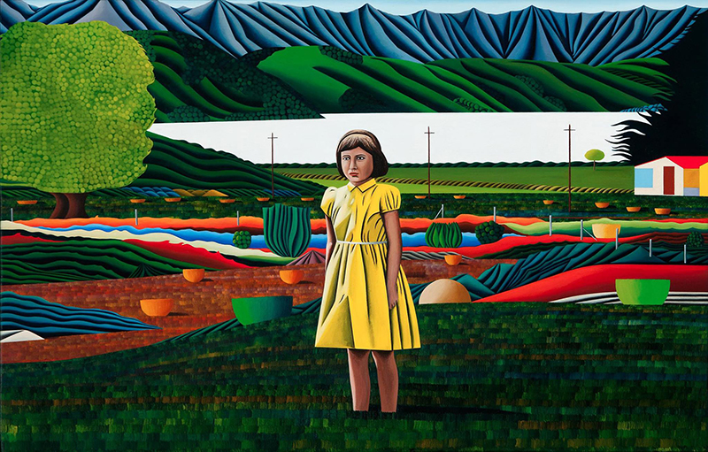 Jeffrey Harris  Magdalena at French Farm , 1996-2012 Oil on board 275 x 440 mm [Private collection, Australia]  _______