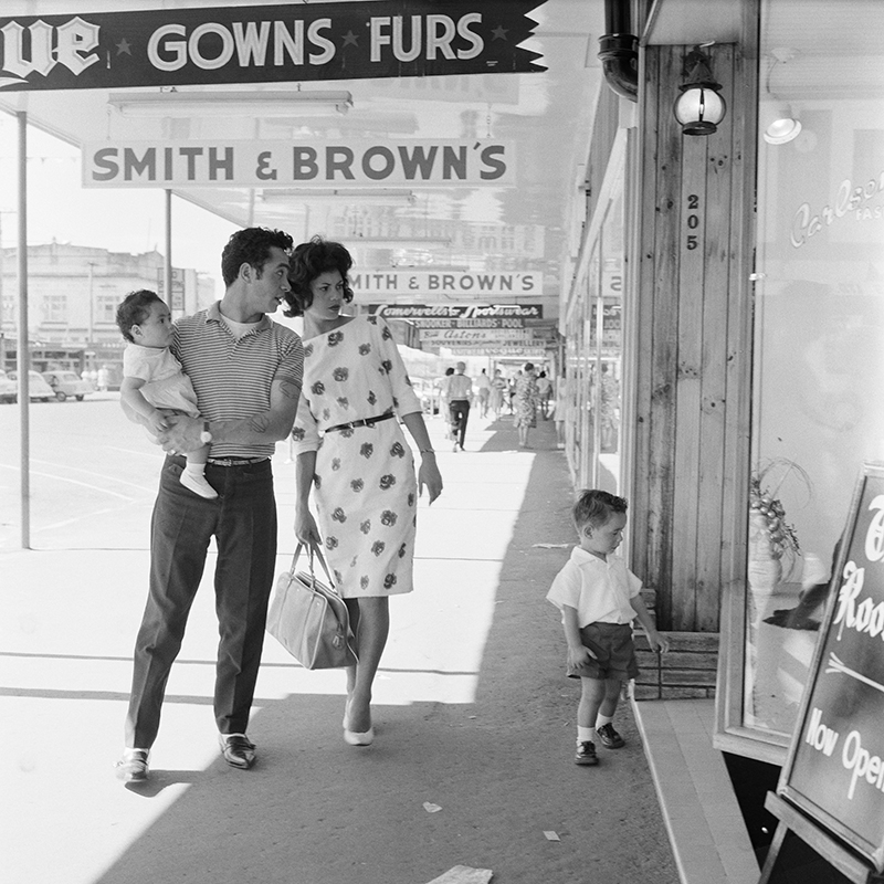 Ans Westra  Main Street, Rotorua , 1963 Pigment print on Hahnemuhle Photo Rag 380 x 380 mm Edition of 25 $1,800 incl. GST  ______