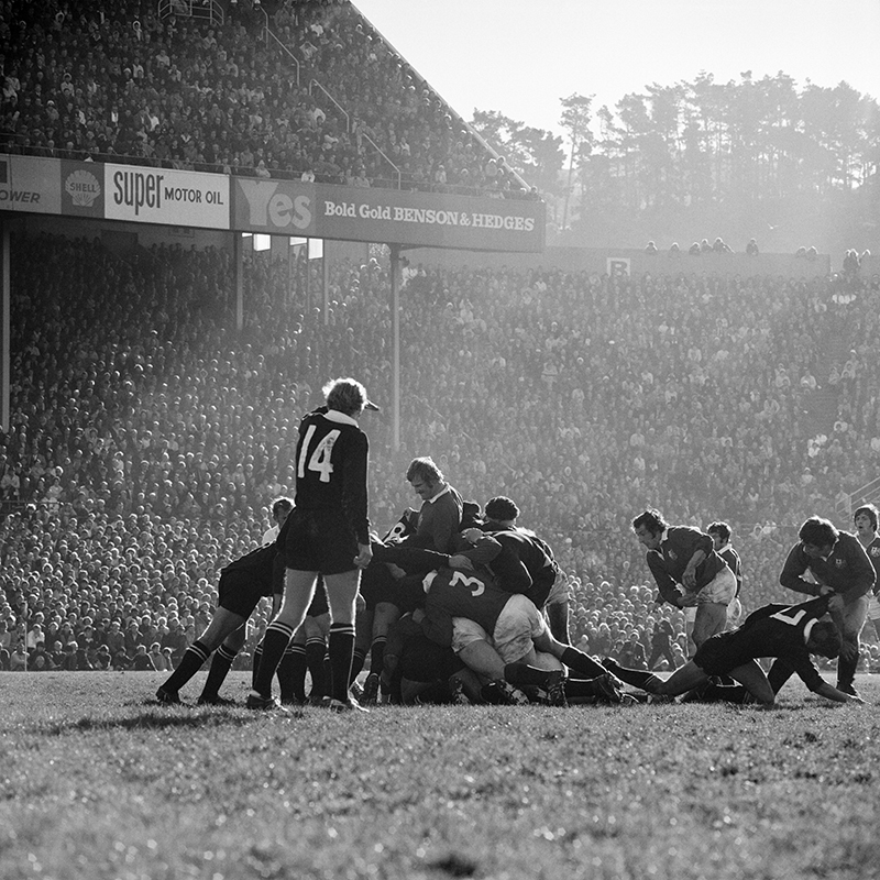 Ans Westra  All Blacks vs British Lions Athletic Park, Wellington , 1971 Pigment print on Hahnemuhle Photo Rag 380 x 380 mm Edition of 25 $1,800 incl. GST unframed, $2,150 incl. GST framed  ______