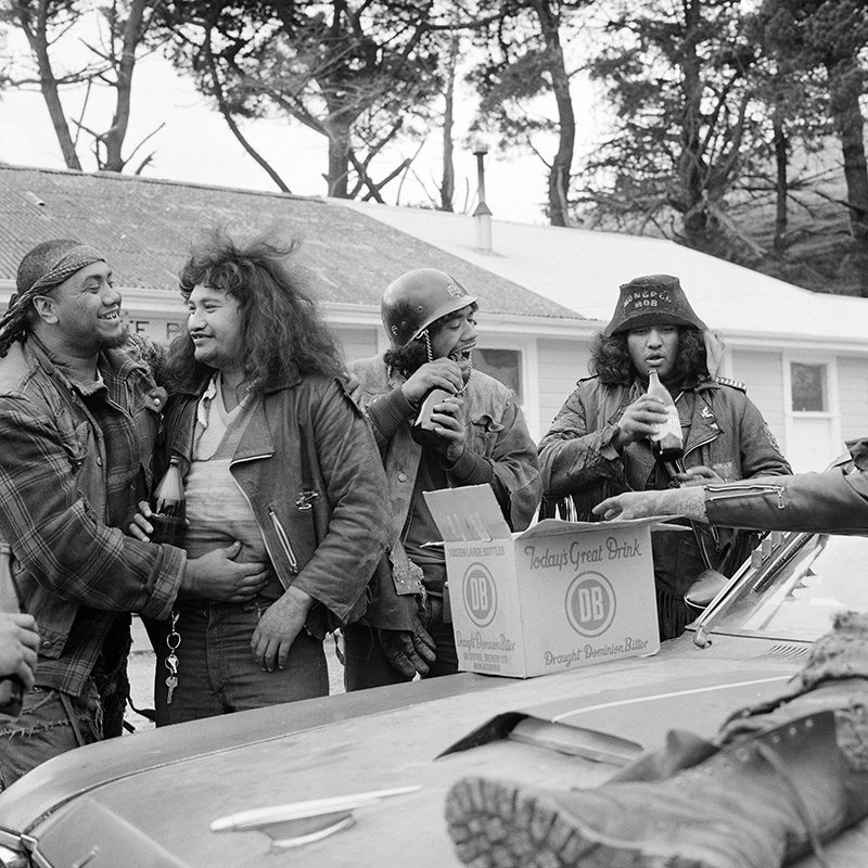Ans Westra  Mongrel Mob convention , 1982 Pigment print on Hahnemuhle Photo Rag 380 x 380 mm Edition of 25 $1,800 incl. GST  ______