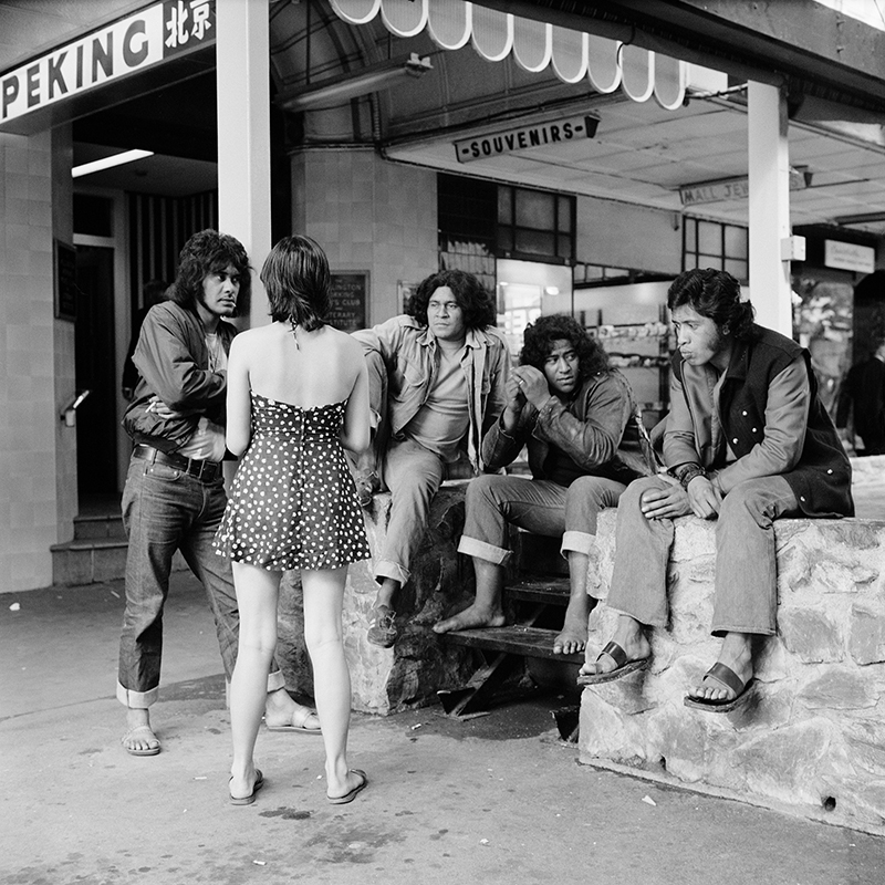 Ans Westra  Cuba Street, Wellington , 1974 Pigment print on Hahnemuhle Photo Rag 380 x 380 mm Edition of 25 $1,800 incl. GST unframed, $2,150 incl. GST framed  ______