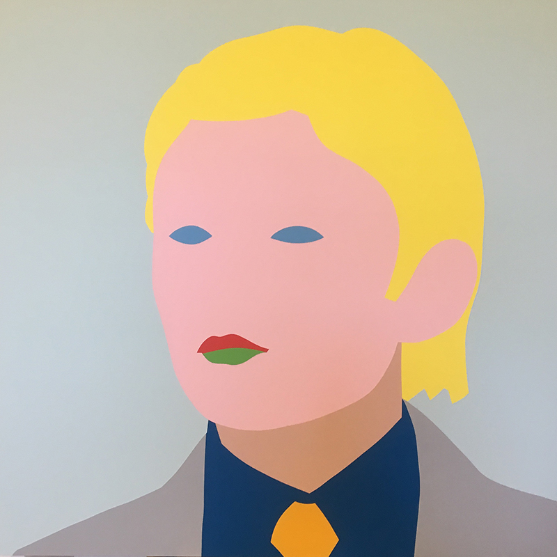 Wayne Youle  Little Don(ald) , 2017 Acrylic on board 640 x 640 mm  [Barron Trump] [Private Collection]  _______