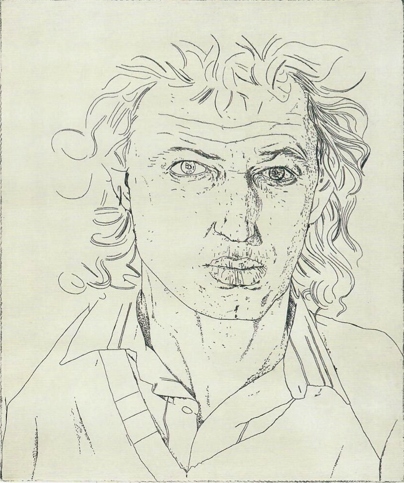 Jeffrey Harris  Self portrait , 1982 Etching on paper (artist proof) 250 x 200 mm [Private collection]  ______