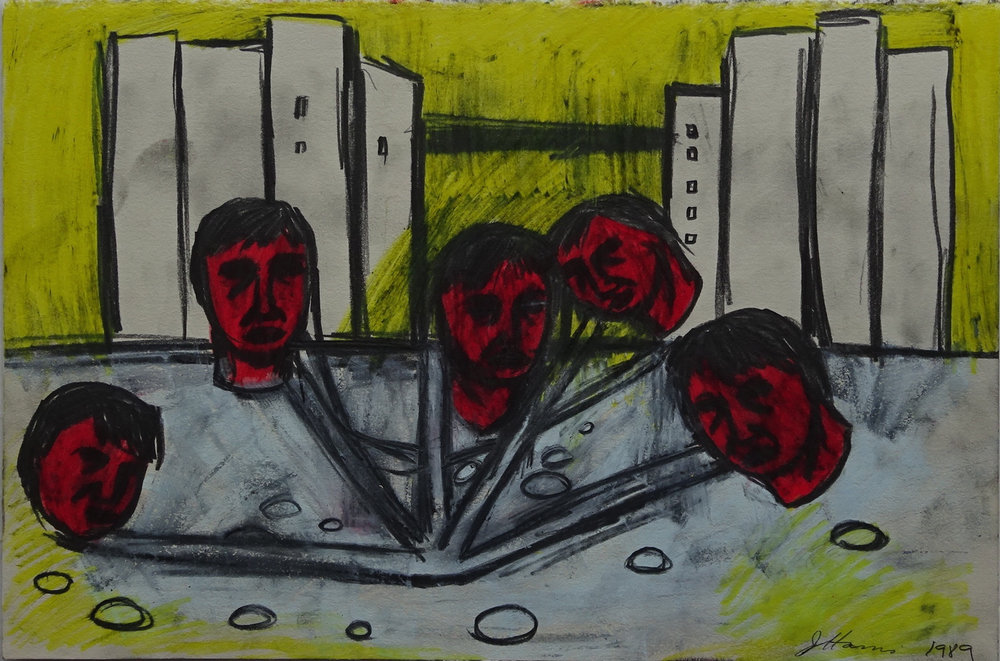 Jeffrey Harris  Untitled , 1988 Oil pastel and graphite on paper 380 x 255 mm  ______