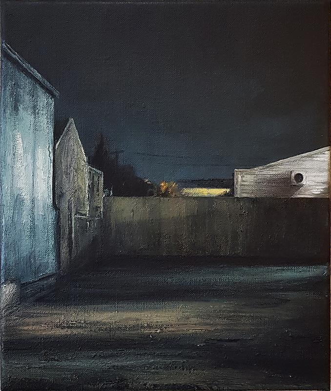 Daniel Unverricht  Southern Horizon , 2017 Oil on linen 300 x 250 mm  _______