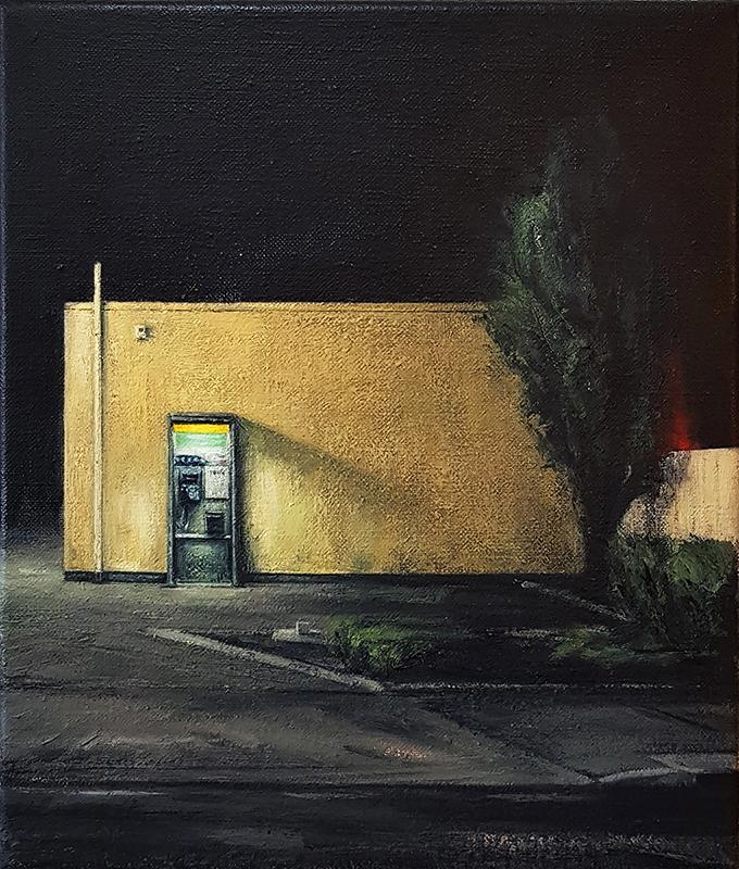 Daniel Unverricht  Tread , 2017 Oil on linen 300 x 250 mm [Private collection]  _______