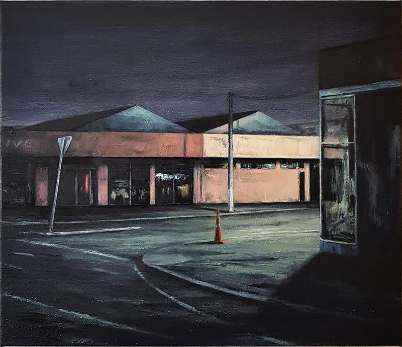 Daniel Unverricht  Corner , 2017 Oil on linen 550 x 650 mm [Private collection]  _______