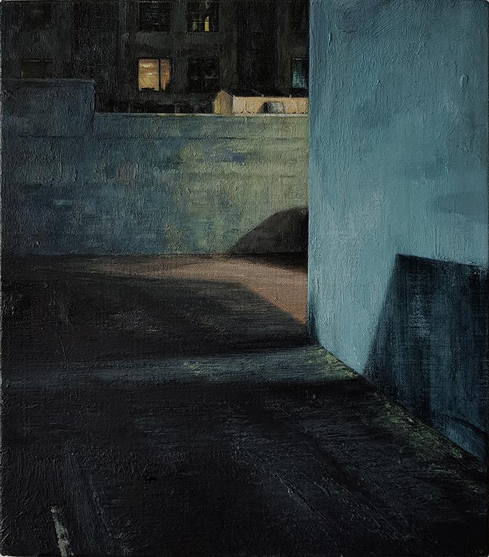Daniel Unverricht  267 , 2017 Oil on linen 400 x 350 mm [Private collection]  _______