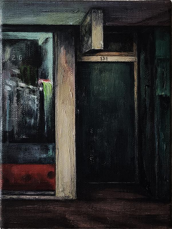 Daniel Unverricht  131 , 2017 Oil on linen 200 x 150 mm [Private collection]  _______