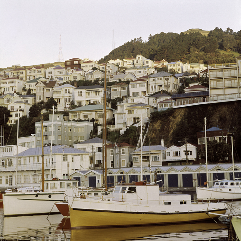 Ans Westra  Oriental Bay, Wellington , c.1975 Inkjet on Ilford Galerie gold fiber silk 315 gsm, 2016 950 x 950 mm Edition of 5 + 2 APs $6,800 incl GST (framed)  _______