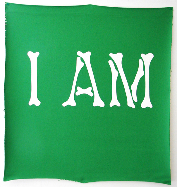Wayne Youle  I AM the very land I walk on , 2012 (Artspace Sydney Residency) Acrylic on un-stretched canvas 825 x 790 mm $6,000 incl. GST  _______