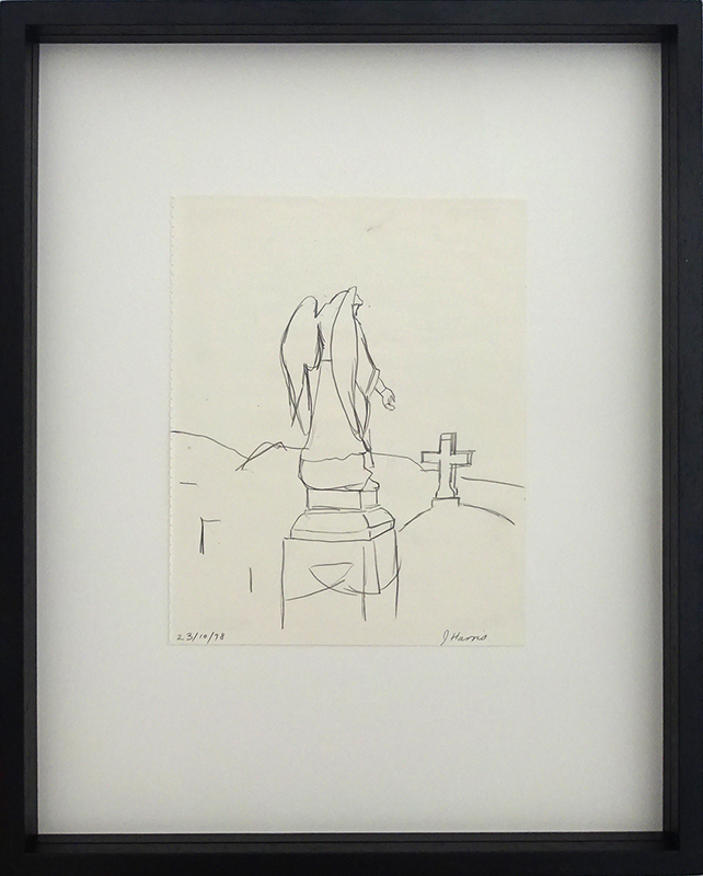 Jeffrey Harris  Karori Cemetery 23 October,  1978 Framed pencil on paper, 255 x 220 mm (paper size)  ______