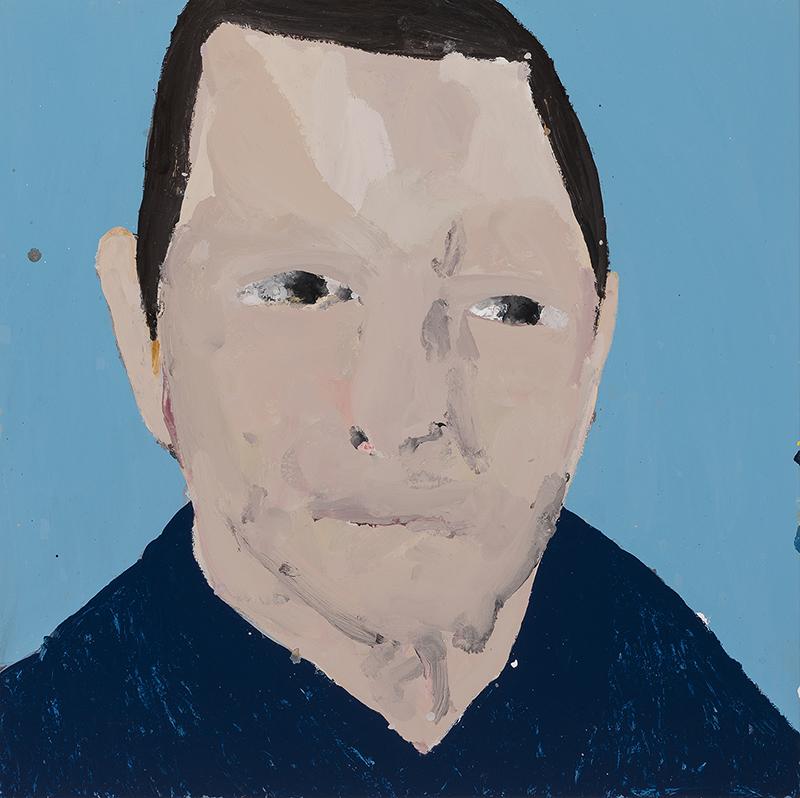 Richard Lewer  Dave, 2017 Enamel on oil primed canvas 720 x 720 mm  ______