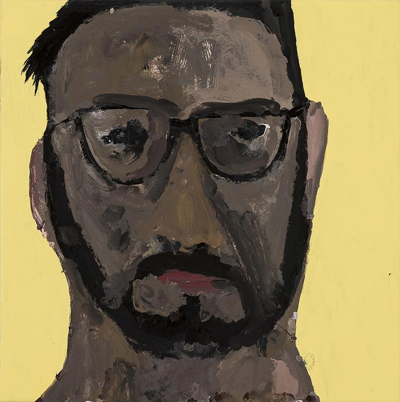 Richard Lewer  Hada, 2017 Enamel on oil primed canvas 360 x 360 mm  ______