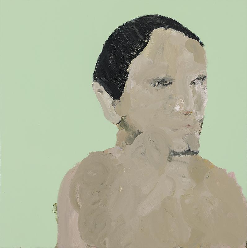 Richard Lewer  Wonky, 2017 Enamel on oil primed canvas 720 x 720 mm  ______