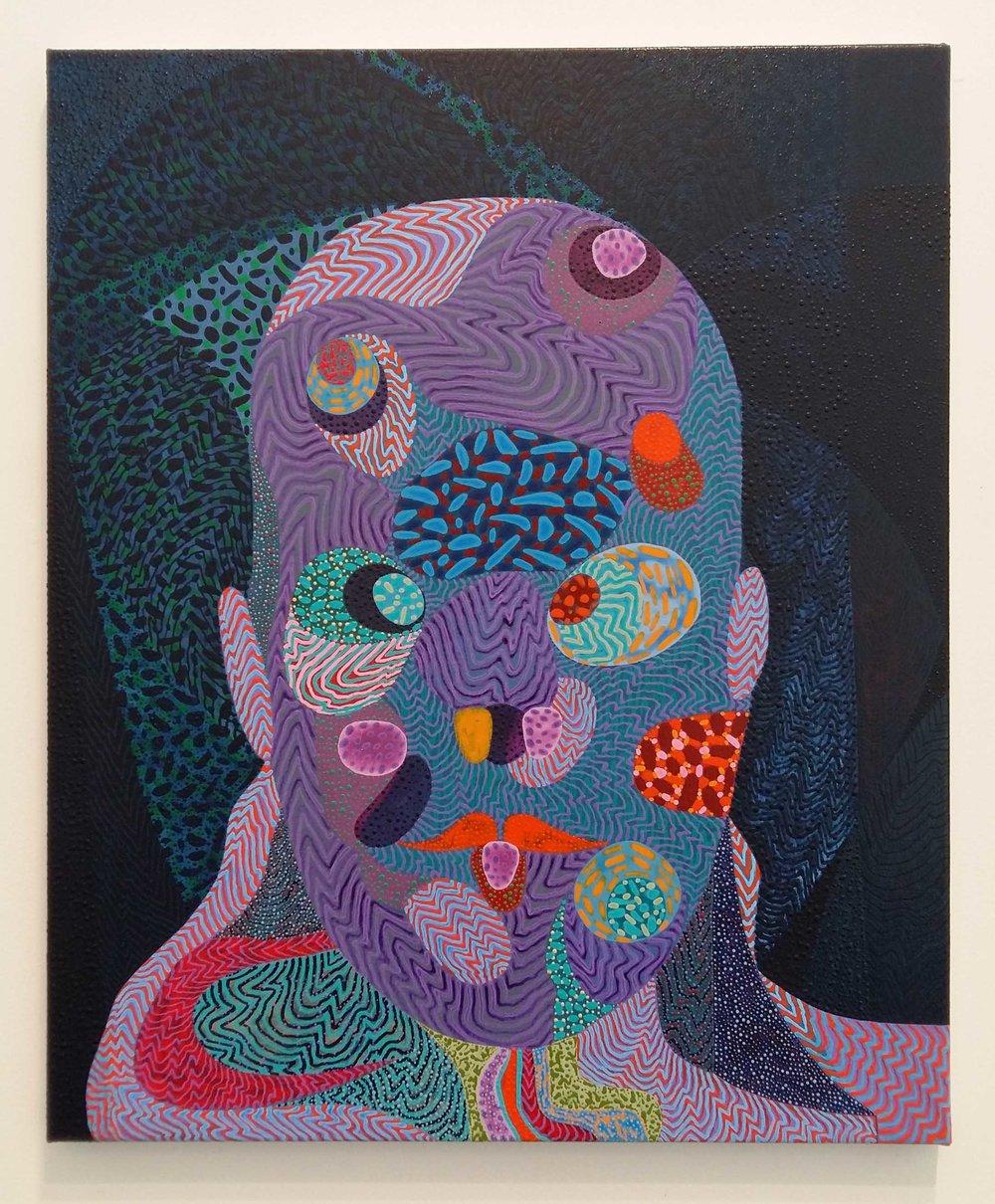 Arie Hellendoorn  Tilt , 2016/2018 Acrylic on linen 500 x 610 mm $4,000 incl. GST  _______