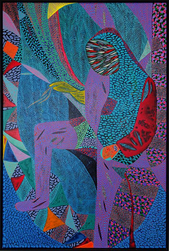 Arie Hellendoorn  Transmute , 2017/18 Acrylic on linen 1200 x 800 mm $6,800 incl. GST  _______