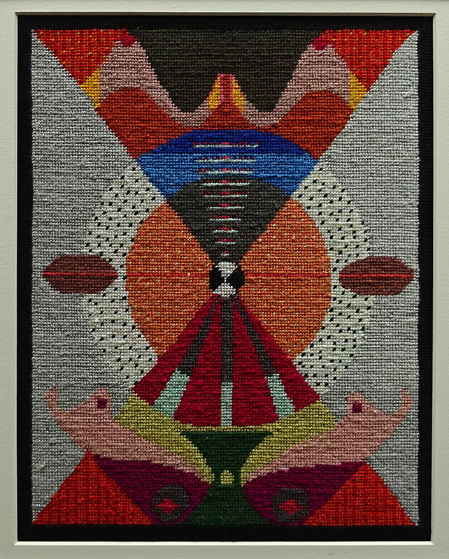 Katy Corner  Hold , 2001 Framed tapestry 270 x 210 mm [Private collection]  _______
