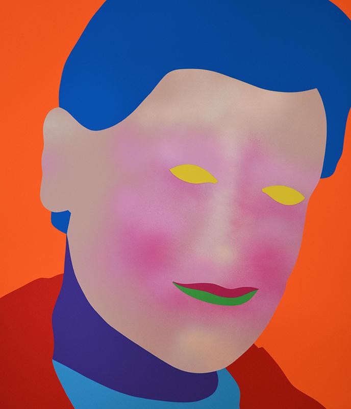 Wayne Youle  Bloody Funny Guys Bloody Funny , 2018 Acrylic, enamel on board 700 x 600 mm each $11,000 incl. GST (framed diptych) [John Gadsby]  _______