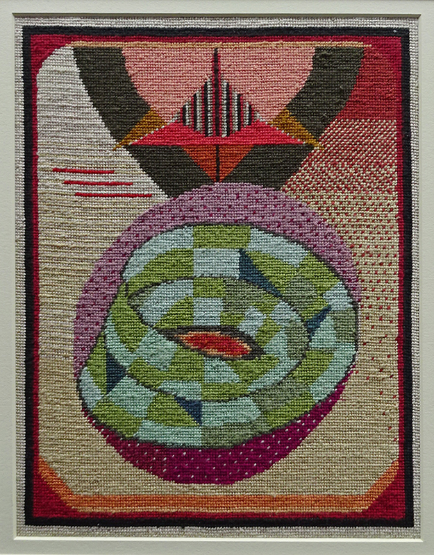 Katy Corner  Swell , 2003 Framed tapestry 278 x 214 mm [Private collection]  _______