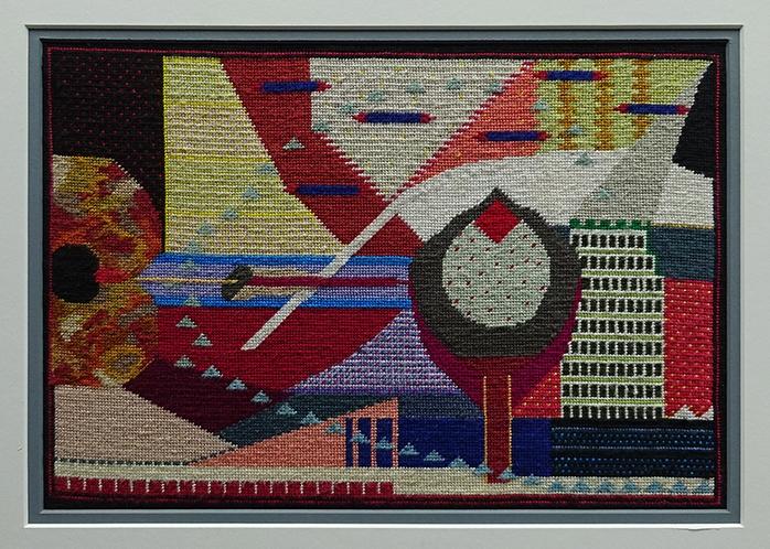 Katy Corner  Untitled , 2008-09 Framed tapestry 215 x 315 mm  _______