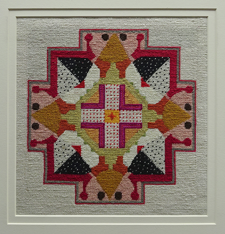Katy Corner  Breathing Space , 2003 Framed tapestry 258 x 246 mm [Corner Family Collection]  _______