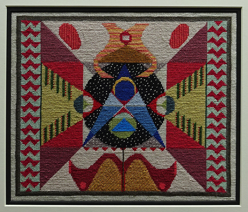 Katy Corner  Freeze Frame , 2002 Framed tapestry 228 x 275 mm [Private collection]  _______