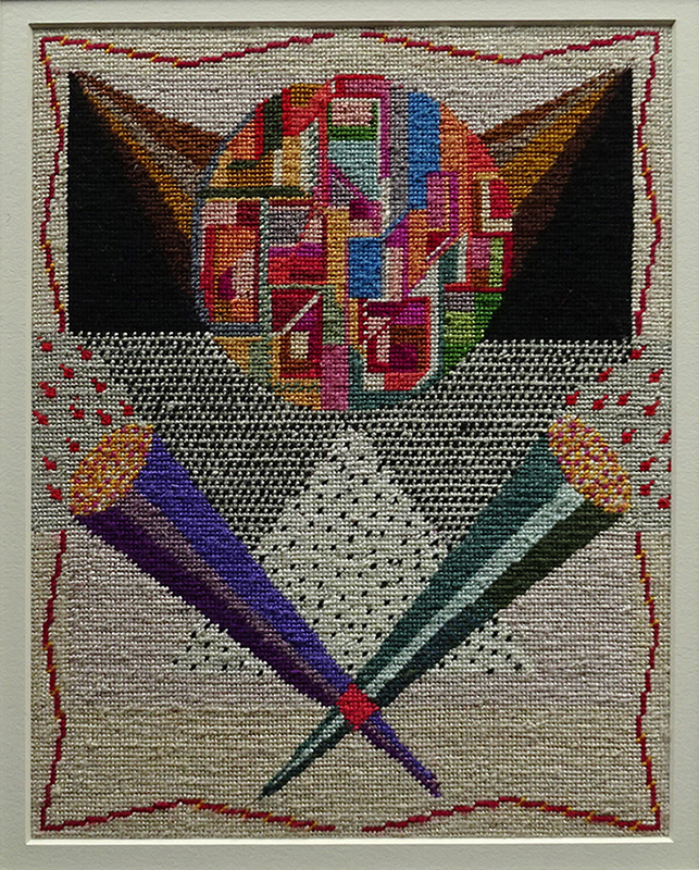 Katy Corner  Trumpets , 2003 Framed tapestry 264 x 207 mm  _______