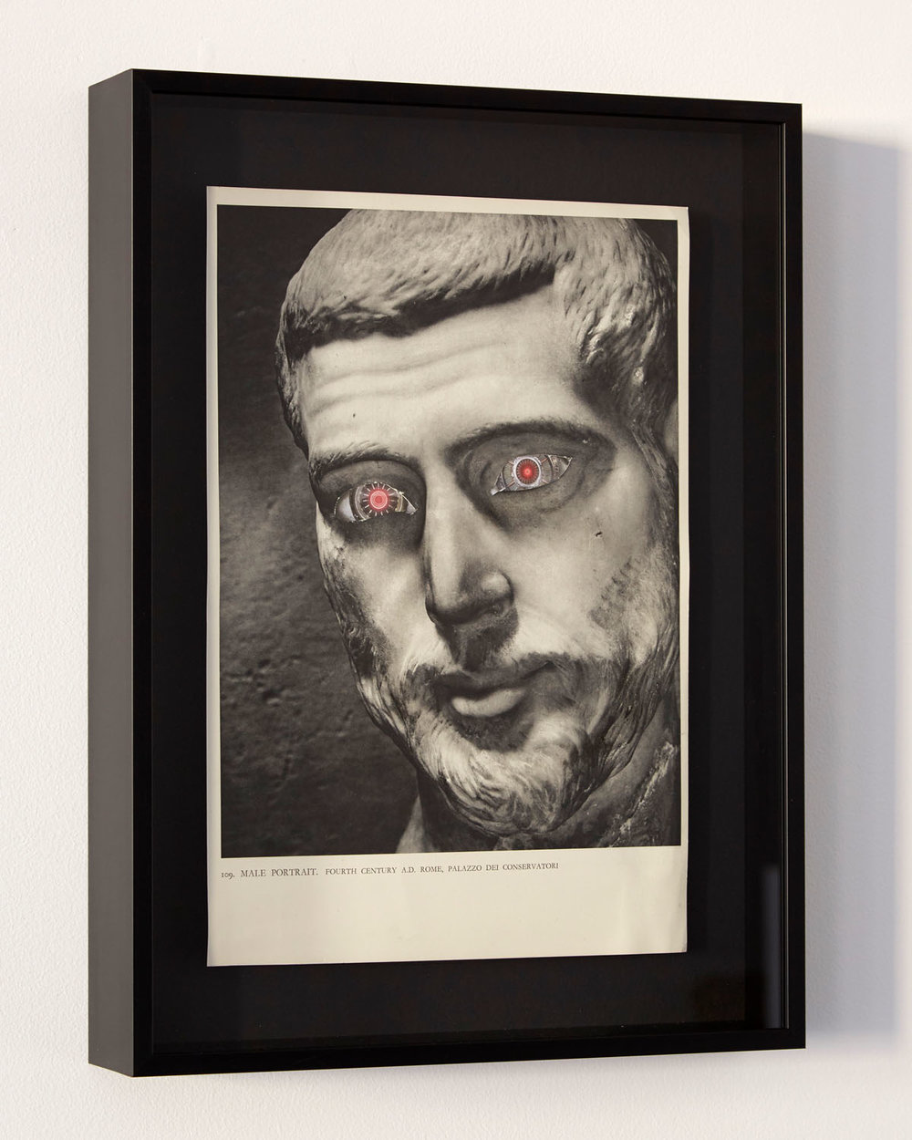 Rob Cherry  Male Portrait Fourth Century , 2018 Framed collage 320 x 220 mm $900 incl. GST  _______