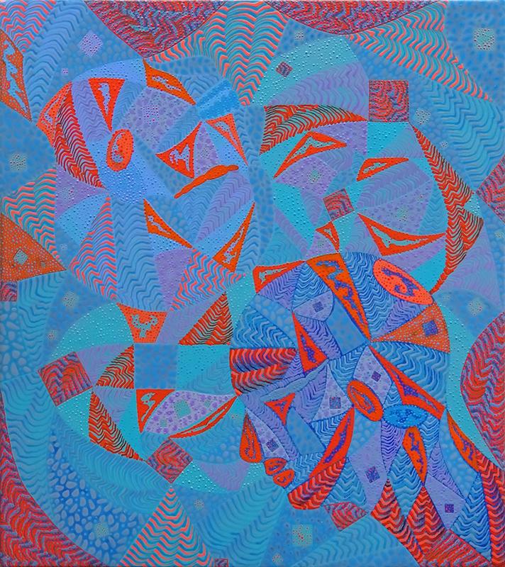 Arie Hellendoorn  Inside Out 3 , 2018 Acrylic on linen 460 x 400 mm  ______