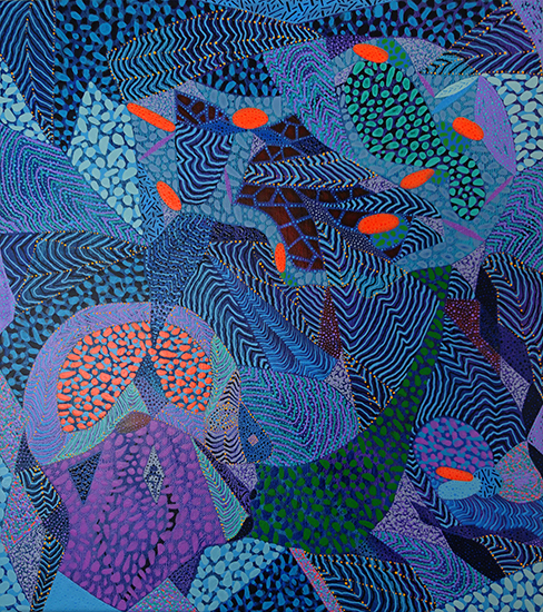 Arie Hellendoorn  Inside Out , 2018 Acrylic on linen 460 x 400 mm  ______