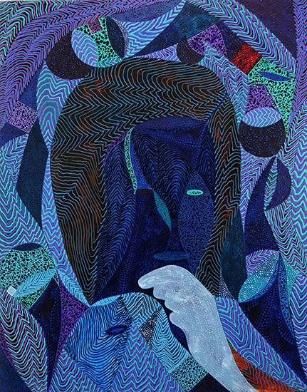 Arie Hellendoorn  Dusk , 2018 Acrylic on linen 460 x 350 mm  ______
