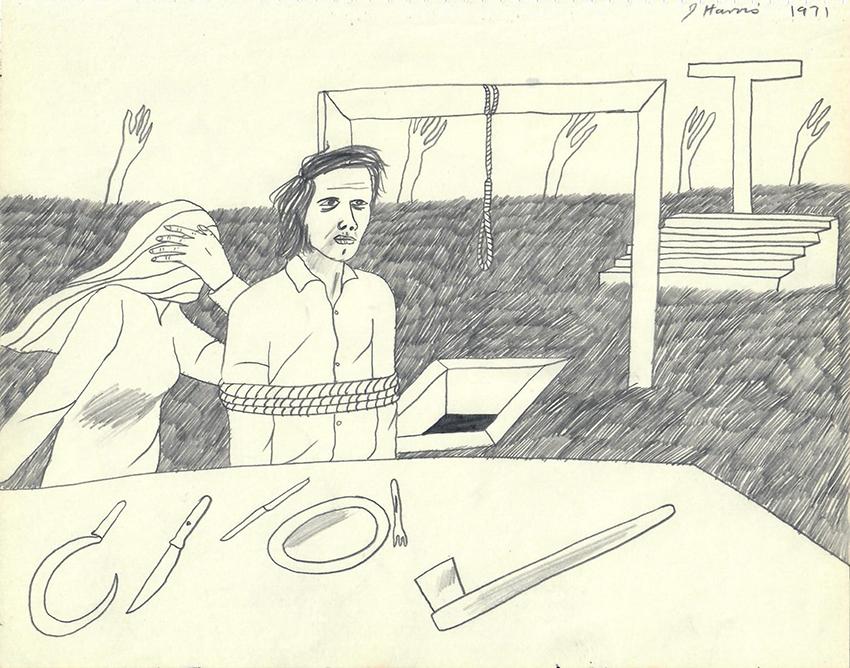 Jeffrey Harris  Figures in a Field , 1971 Pencil on paper 205 x 255 mm  ______