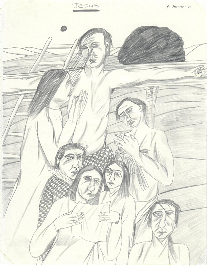 Jeffrey Harris  Jesus , 1971 Pencil on paper 255 x 205 mm  ______