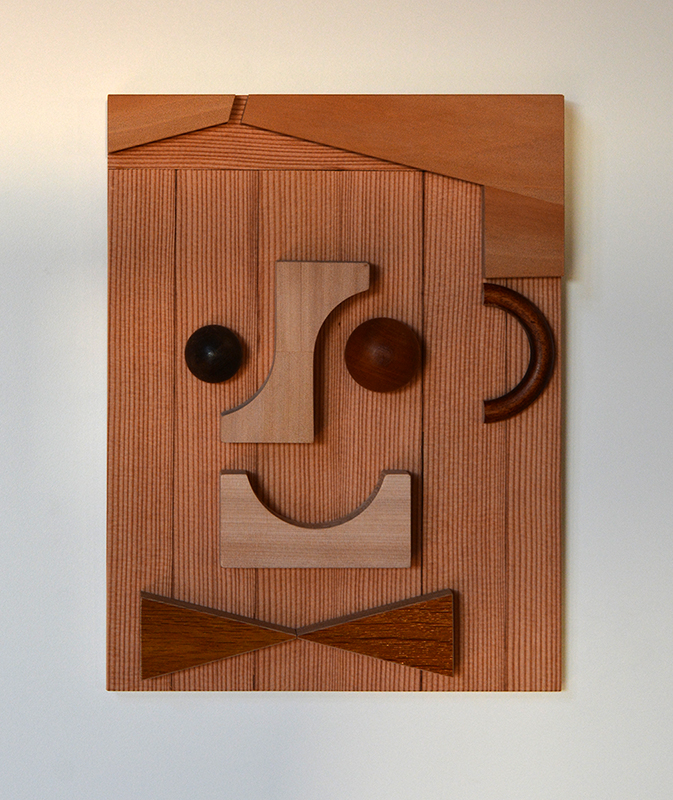 Wayne Youle  Accountant , 2018 cedar, oak, beech, walnut, kauri, and MDF 320 x 240 x 30 mm  _______