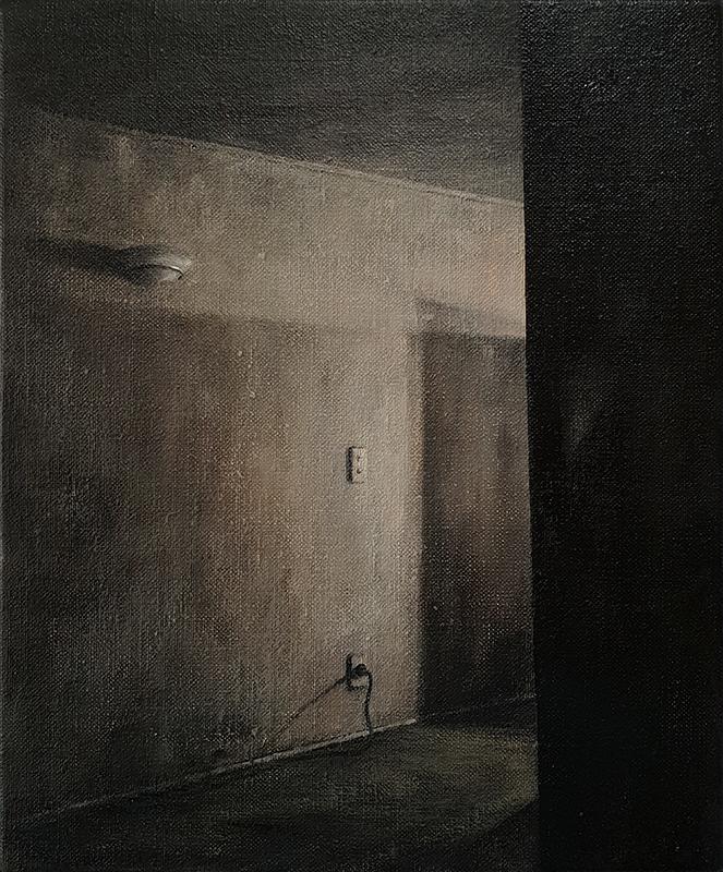 Daniel Unverricht  Crease , 2018 Oil on linen 300 x 250 mm [Private collection]  _______