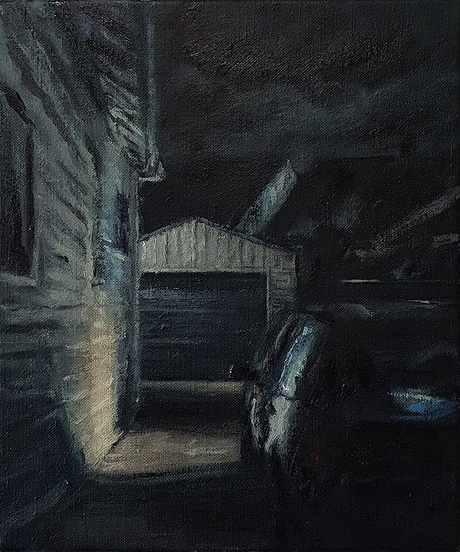 Daniel Unverricht  Fade , 2018 Oil on linen 300 x 250 mm  _______