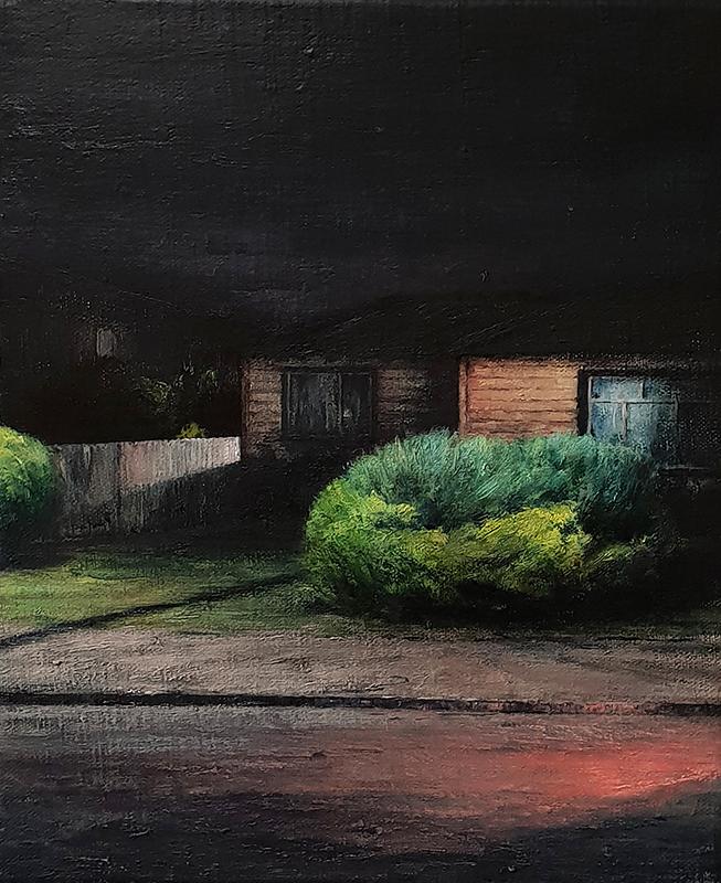 Daniel Unverricht  Telegraph , 2018 Oil on linen 300 x 250 mm [Private collection]  _______