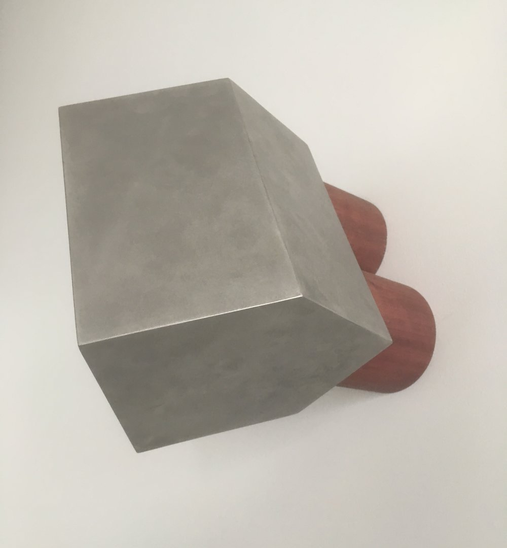 Anton Parsons  Gable , 2018 Stainless steel and wood 200 x 160 x 270 mm  ______
