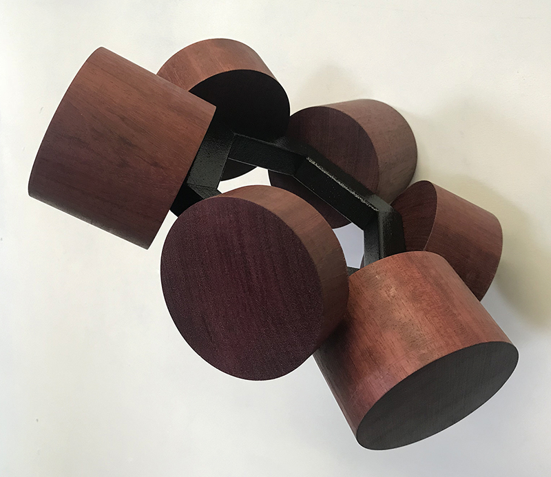 Anton Parsons  Saturn , 2018 Steel, paint and wood 100 x 300 x 300 mm  _______