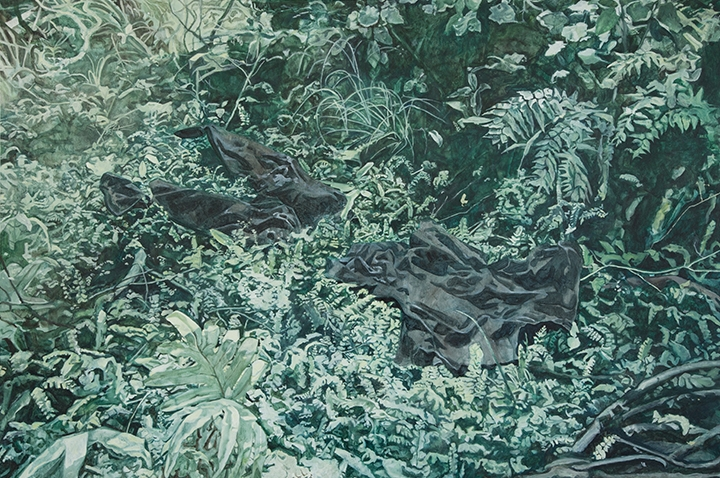 Lily McRae  Untitled (clothing) , 2018 oil on board 1220 x 800 mm [Private collection]  _______