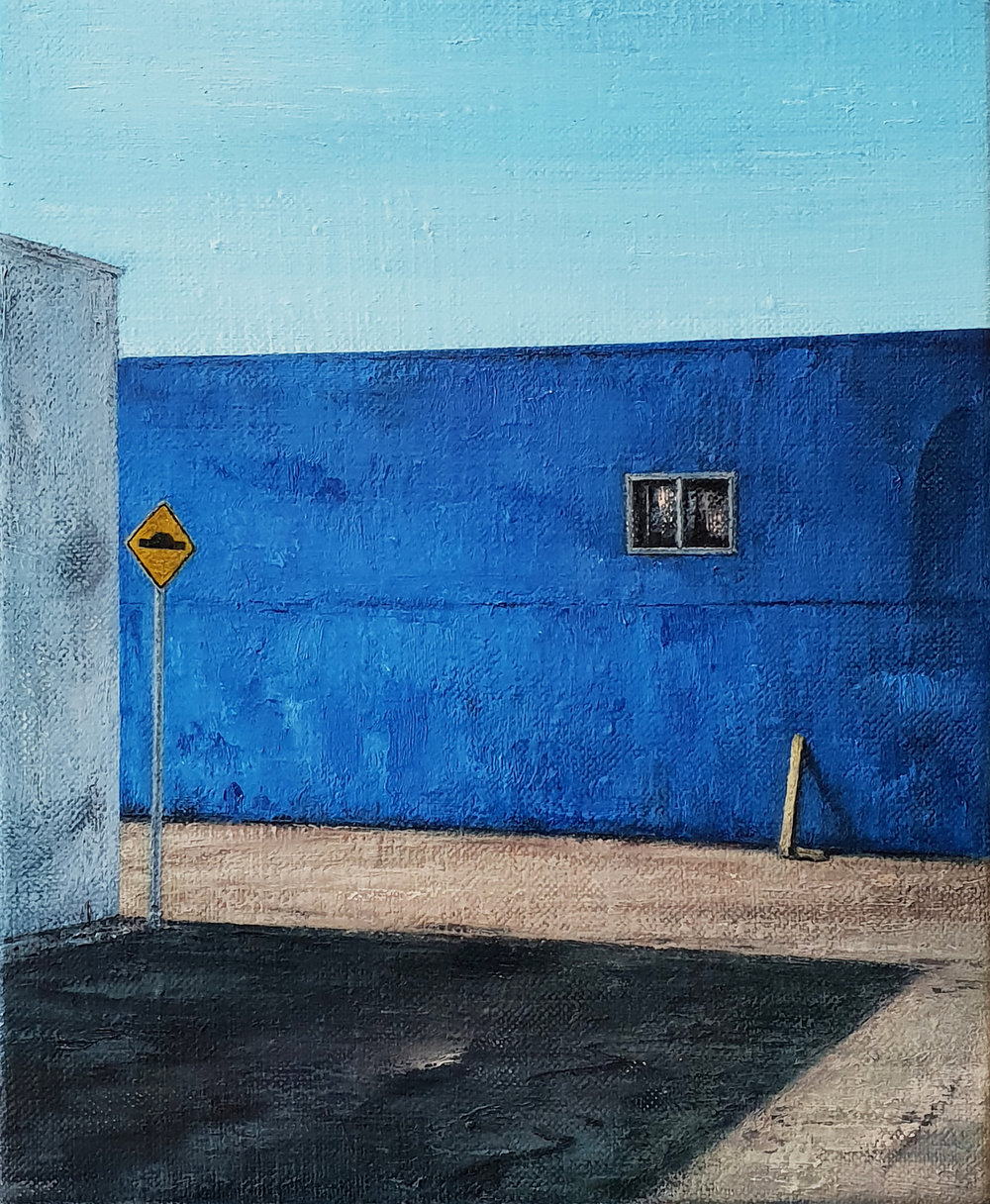Daniel Unverricht  Laze , 2018 Oil on linen 300 x 250 mm  _______