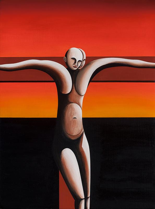 Jeffrey Harris  Crucifixion 1 , 2002/18 Oil on board 299 x 223 mm  _______