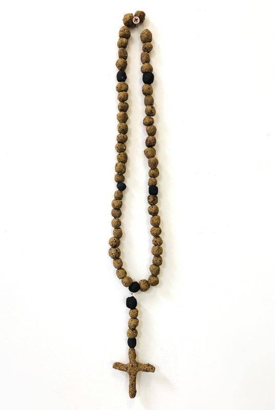 Richard Lewer  Rosary #5,  2018 Fired stoneware beads 460 mm  _______