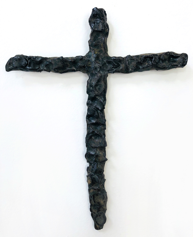 Richard Lewer  Crucifix #7,  2018 Fired stoneware 260 x 200 mm  _______