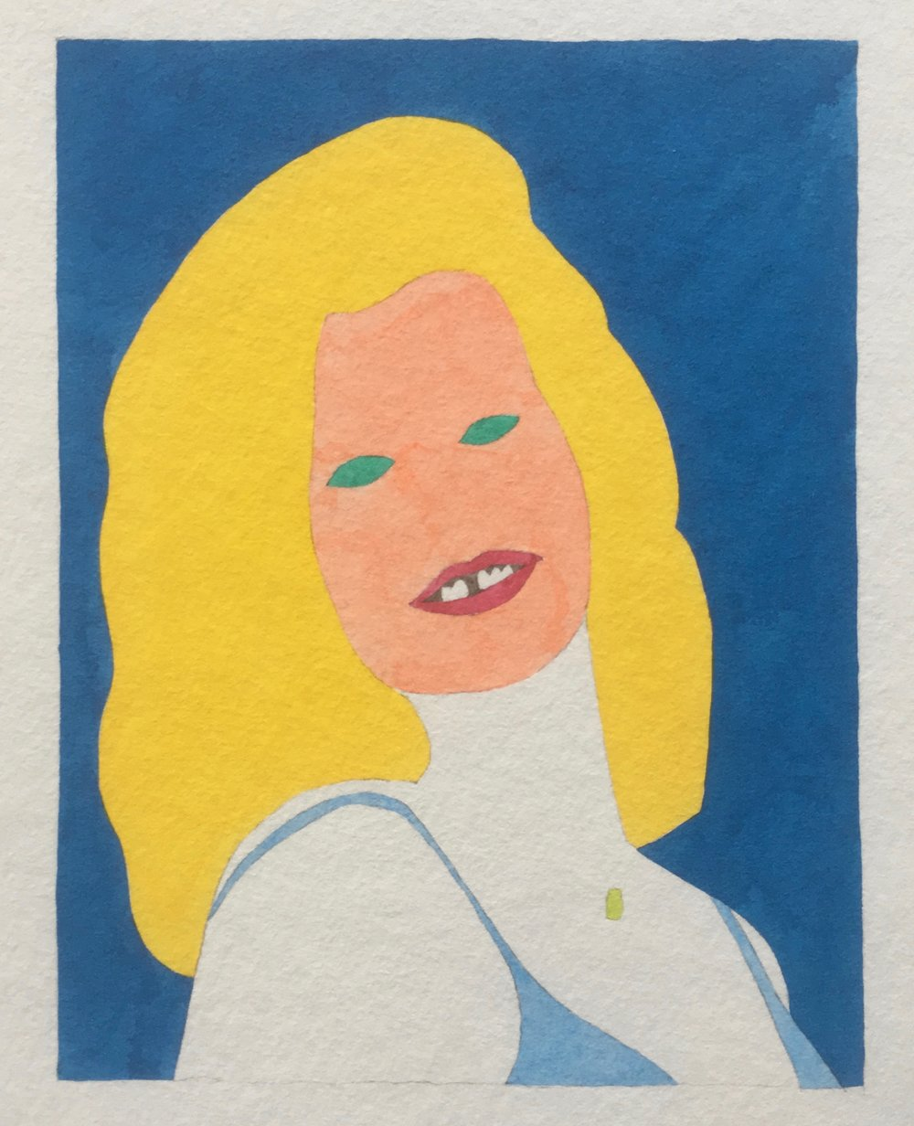 Wayne Youle  Carmen Rupe in the style of 60s popular culture,  2018 Acrylic ink on paper $1,800 incl. GST  _______