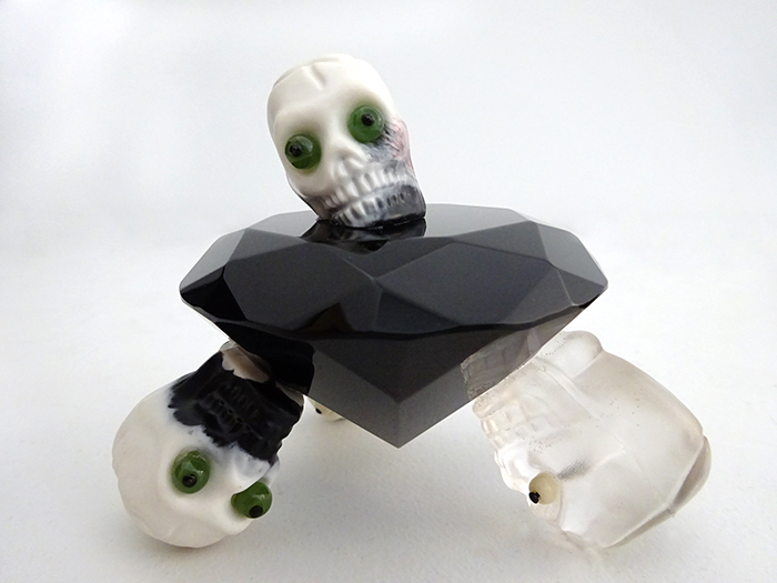 Wayne Youle  Black Diamond , 2009 Greenstone, bone and resin $1,800 incl GST  _______